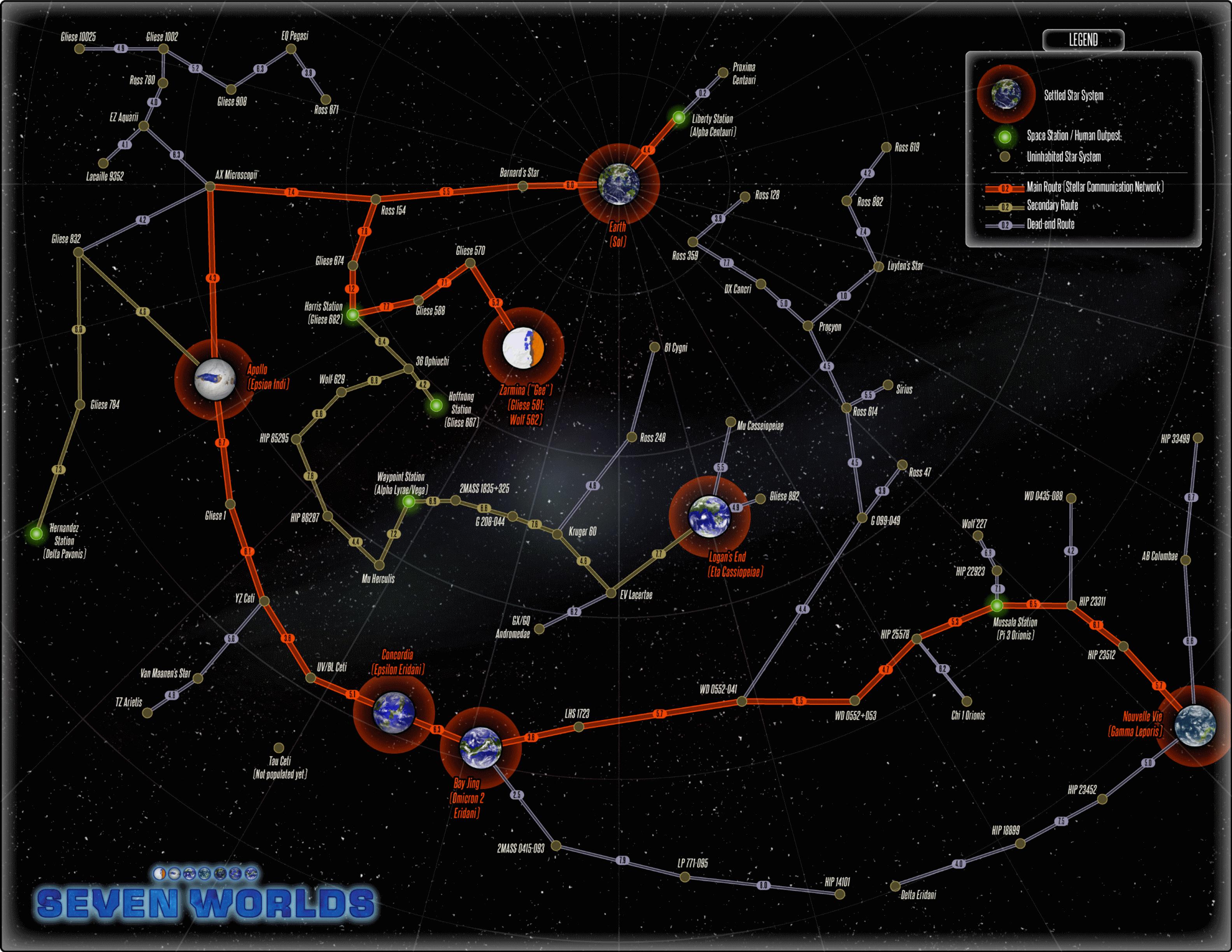 Seven Worlds Full Starmap