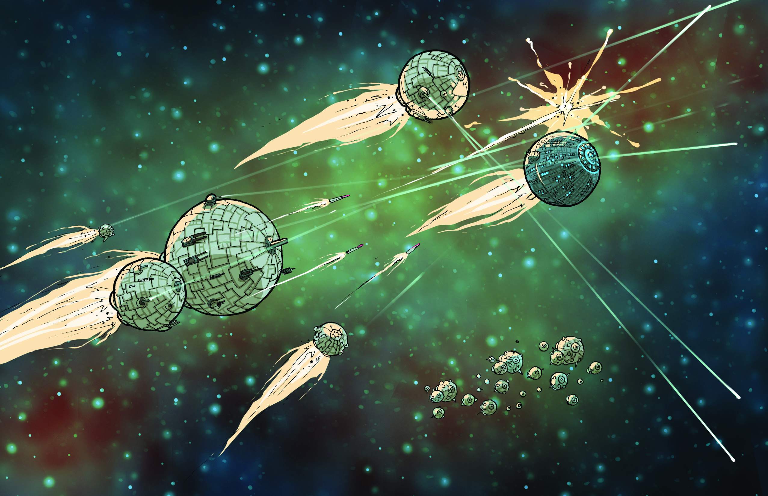 A Pitched Space Battle