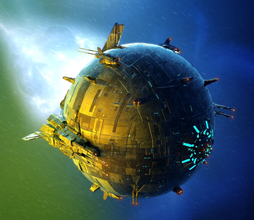 Spherical Spaceship